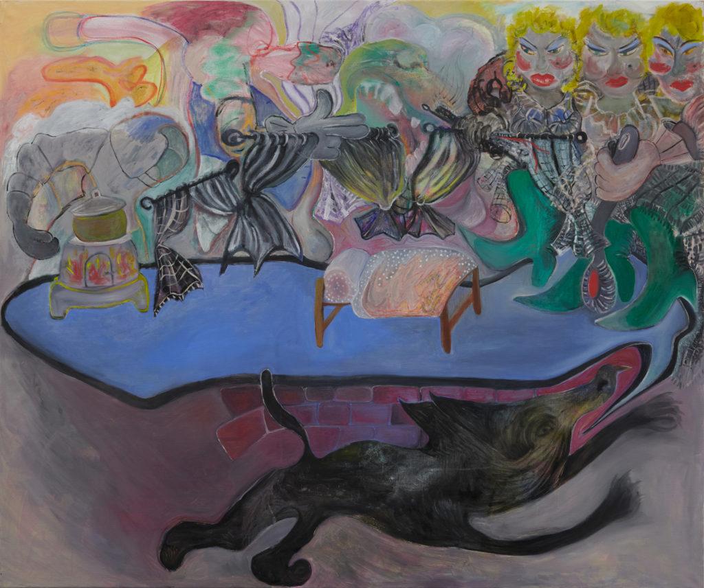 Geschichten aus dem Gardinenwald, 2020, oil on canvas, 150 x 180 cm.jpg